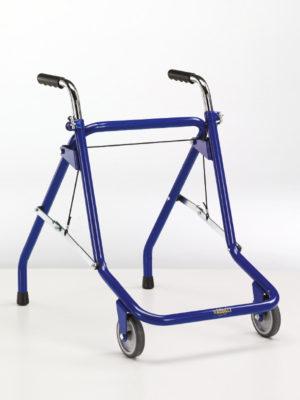 Deambulatore con 2 ruote e 2 puntali