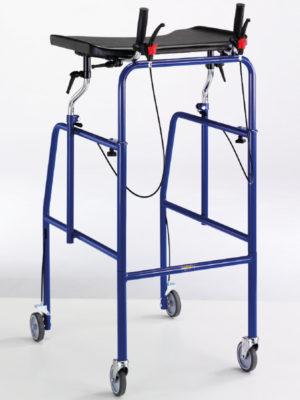 Deambulatori scorrevole su 4 ruote con tavolo